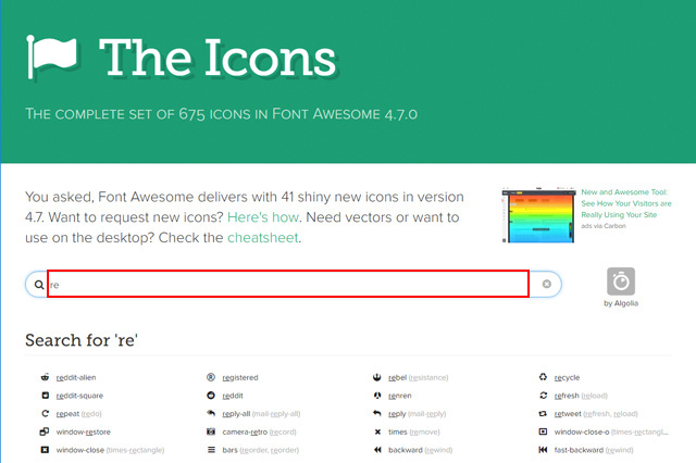 Font Awecome Icons
